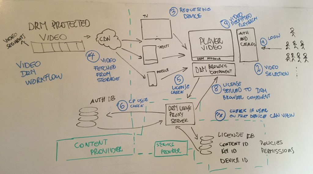 DRM in video architecture