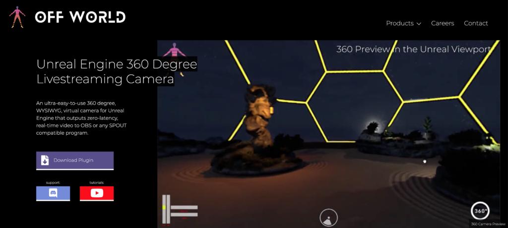 offworld 360 degrees streaming virtual video camera